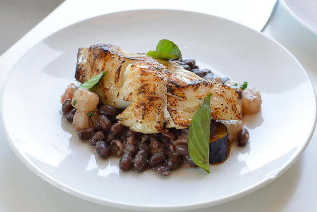 Black Miso Cod japanese eggplant, adzuki beans, pickled ginger, thai basil