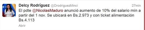 Delcy Rodríguez (DrodriguezMinci) en Twitter - Google Chrome