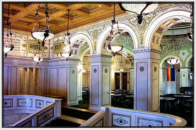 Chicago Old Public Library ~ Chicago II ~ Carrara Marble & Mosaics ~ 1893