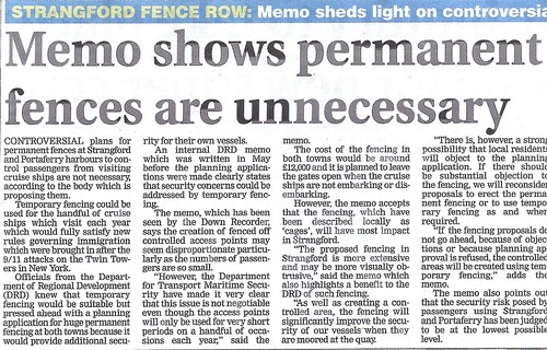 aug 21 2013 DRD memo fences strangeford by CadoganEnright