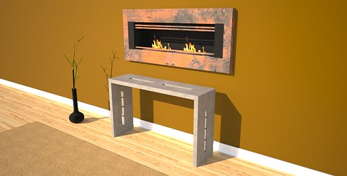 Hallway console table designed and created by Designs by Rudy at 108.167.189.34
