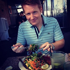 Lunch earlier with my favorite ginger