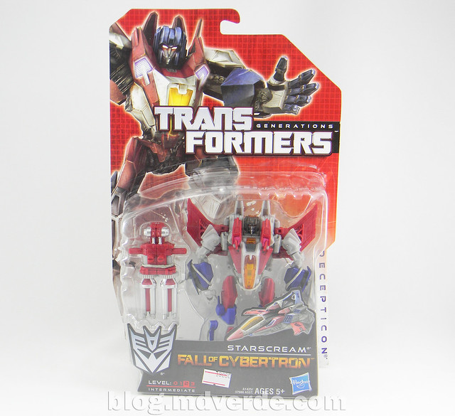Transformers Starscream Deluxe - Generations Fall of Cybertron - caja