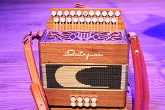 folk instrument(0.0), hand drum(0.0), electronic instrument(0.0), accordion(1.0), purple(1.0), diatonic button accordion(1.0), button accordion(1.0), musical instrument(1.0), garmon(1.0),