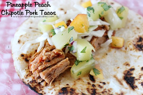 Pineapple Peach Chipotle Pork Tacos with Pineapple Peach Salsa - Saving time with WonderBag - family dinner #PMedia #ad #Wonderbag