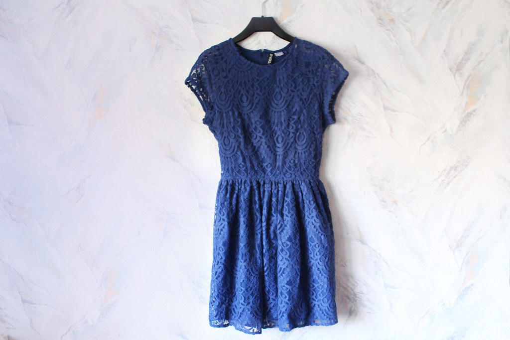 blue lace dress from H&M