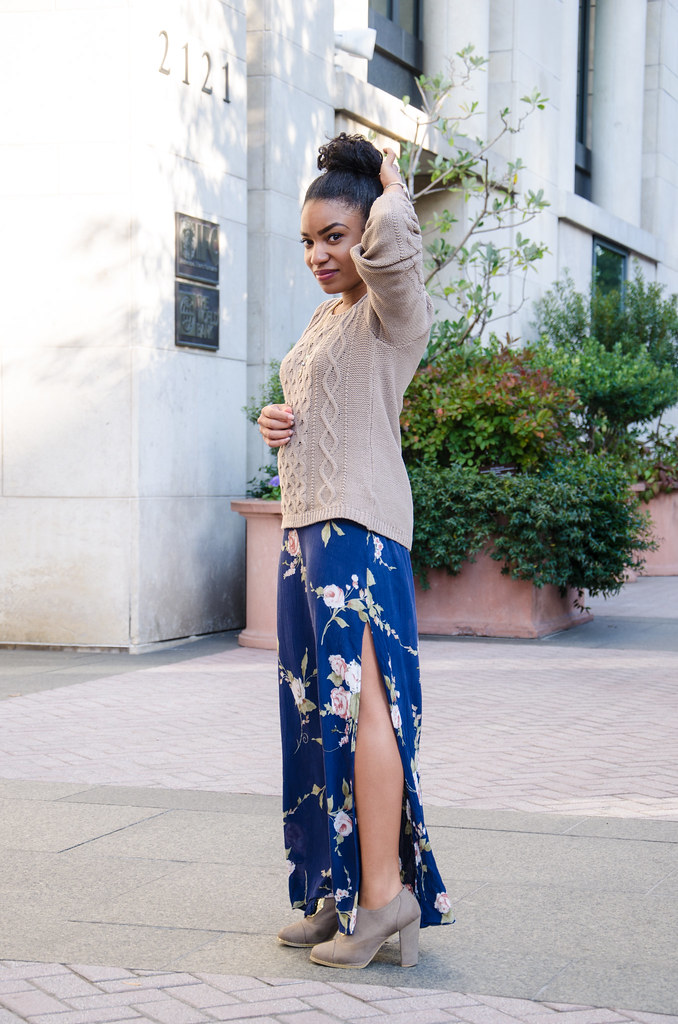 urban outfitters maxi dress with side splits for fall