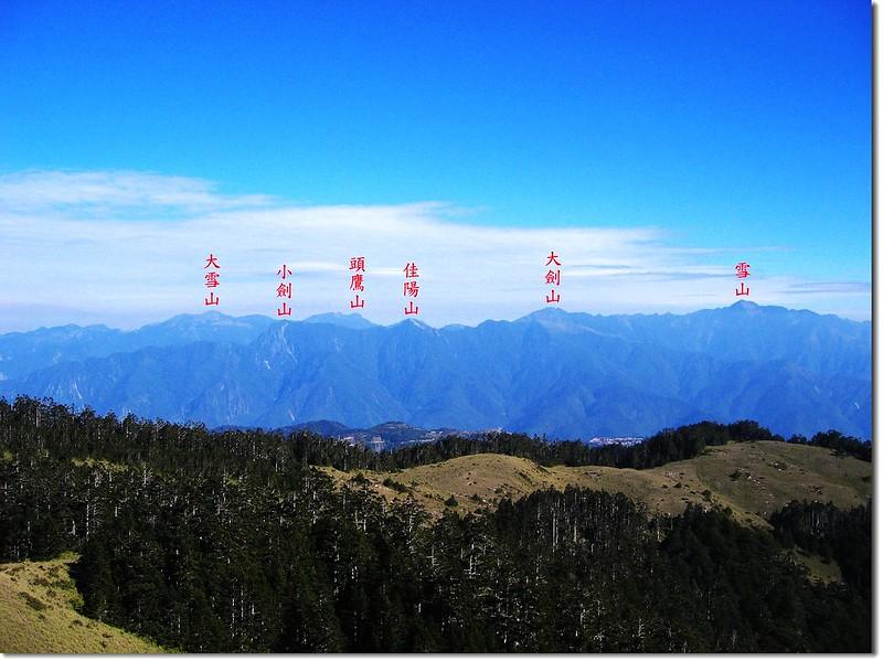 西合歡山北眺雪劍連稜 4
