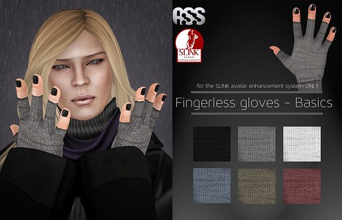 A:S:S - Fingerless glove appliers for SLINK hands by Pho Vinternatt