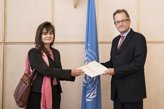 NEW PERMANENT REPRESENTATIVE OF NAMIBIA PRESENTS CREDENTIALS