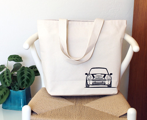Boot and Bonnet Mini Cooper Tote bag