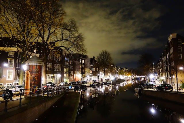 Amsterdam Prinsengracht by night