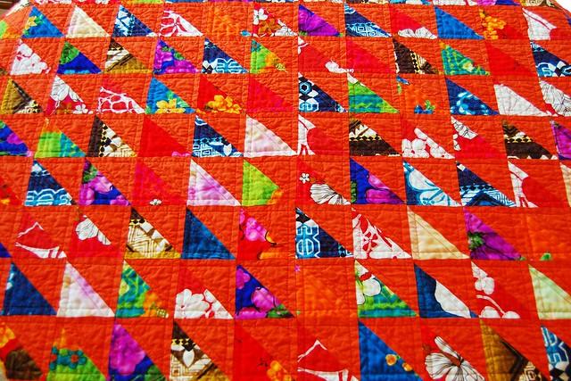 Polynesian Scrap Quilt Front