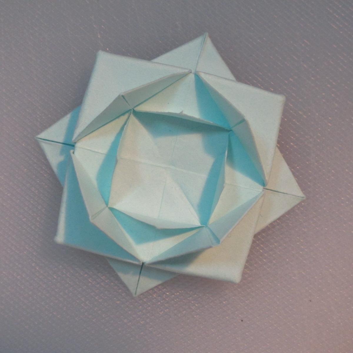 วิธีการพับกระดาษเป็นรูปโบว์ติดกล่องของขวัญ 011