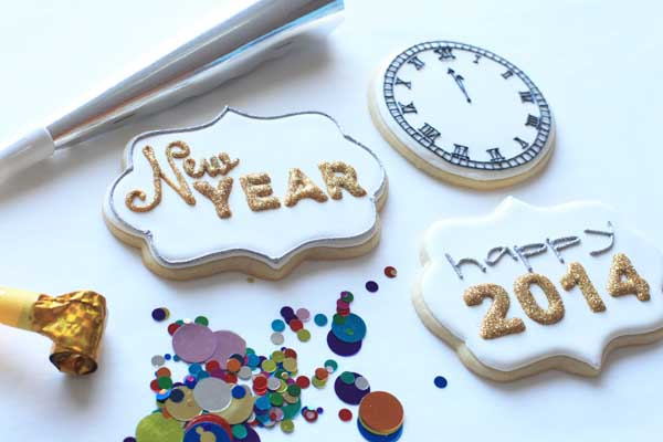 New years cookie