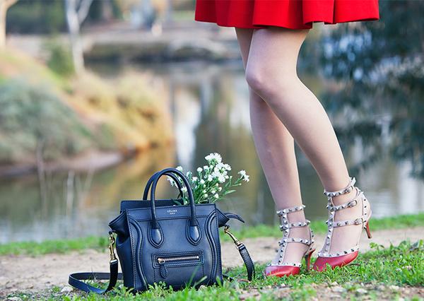 נעלי ולנטינו, תיק סלין, valentino pumps, celine bag