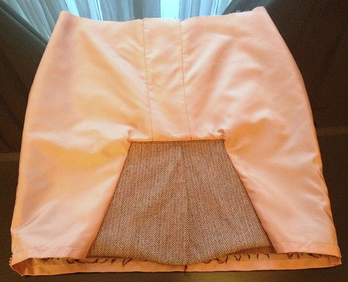 Tweed Peplum Skirt Refashion
