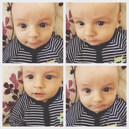Cutie pie baby face.
