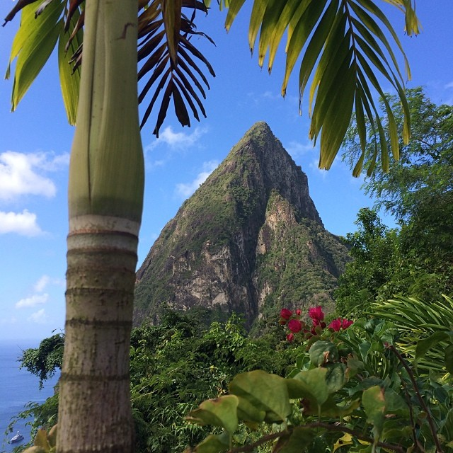 Mount Piton in St Lucia