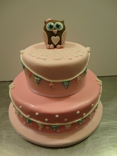 Owl 1st Birthday Cake by CAKE Amsterdam - Cakes by ZOBOT