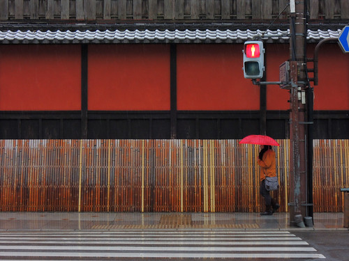 Sleet pattern 霙 京都市東山区 Road of the city of Kyoto 77