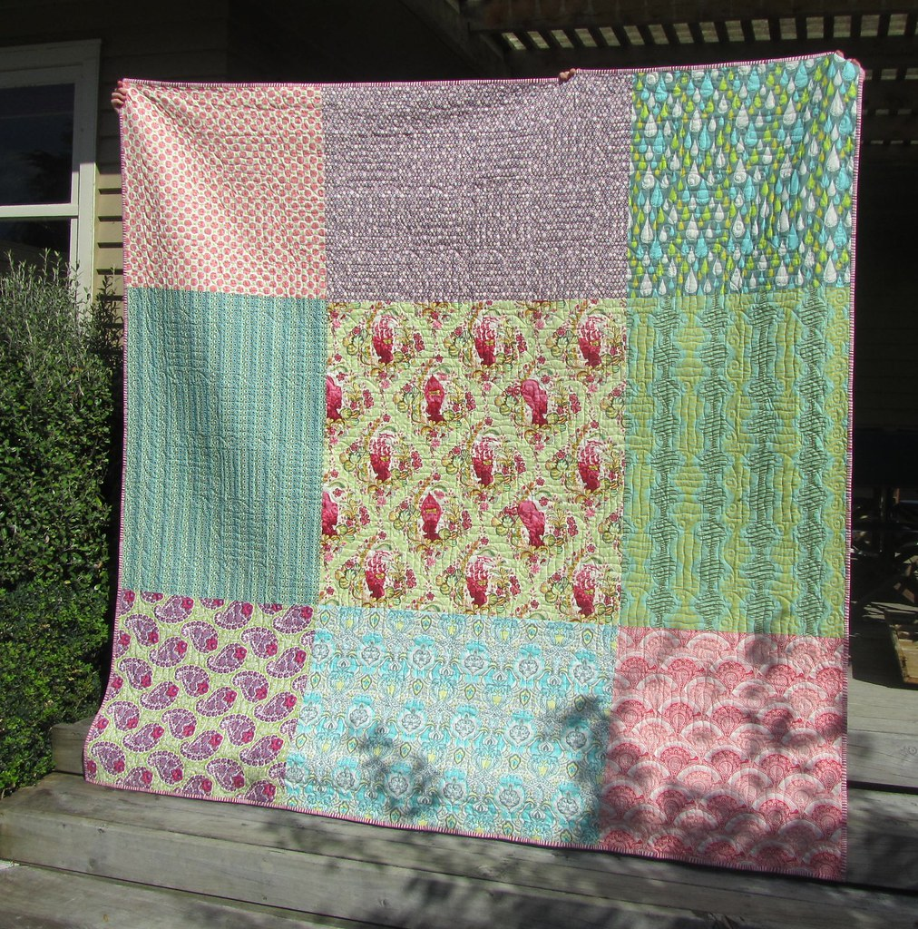 Back of Tula Pink quilt
