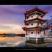 Sunset with the Pagoda in Chinese Garden, Singapore :: HDR by :: Artie | Photography :: Happy 2016 !
