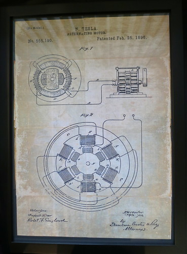 How it all started... the Nikola Tesla patent on the alternating motor - no brushes or rare Earth magnets needed