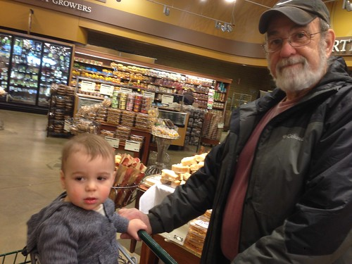 Grandpa and Elliott Grocery Shopping