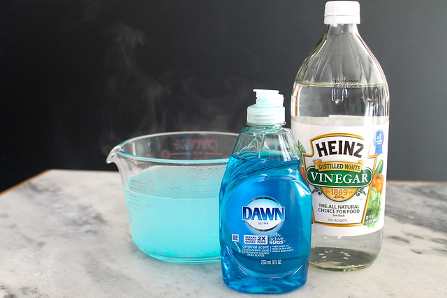 Spring Cleaning with Dawn Dish Soap, Heinz Vinegar and hot water