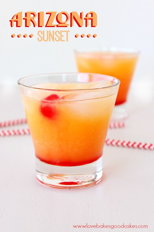Arizona Sunset - a fun non-alcoholic drink, perfect for warmer weather! #drink #beverage #non-alcoholic