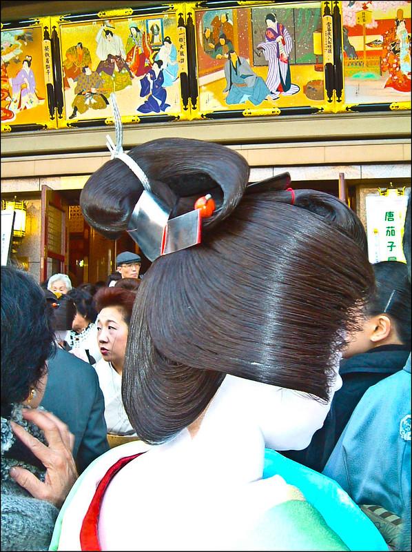 El maquillaje en la nuca de las geishas