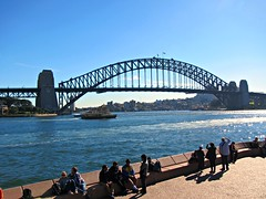 The bridge viewed from the Opera House