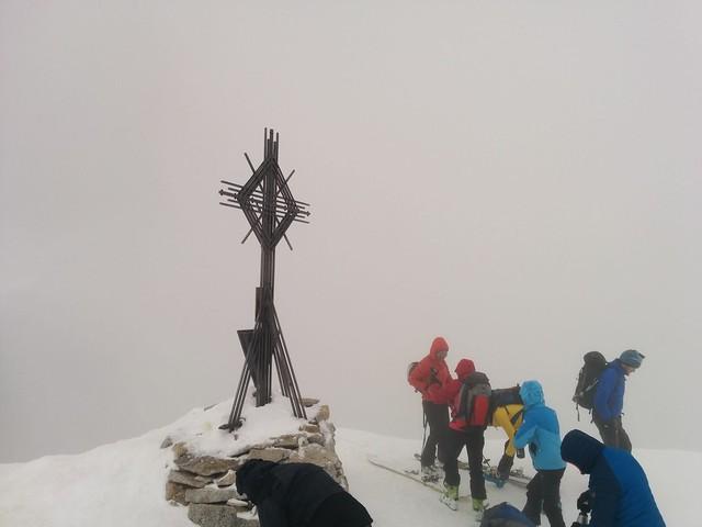 Gipfel Magerstein 3.273 m, leider Waschküchen-Wetter!