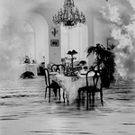 Loretta Young-Gautier -  Dining  Alfresco, Archival gelatin silver print ed. 12/15 2001