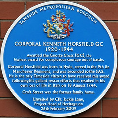 Photo of Kenneth Horsfield blue plaque