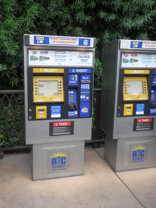 Las Vegas RTC ticket vending machines