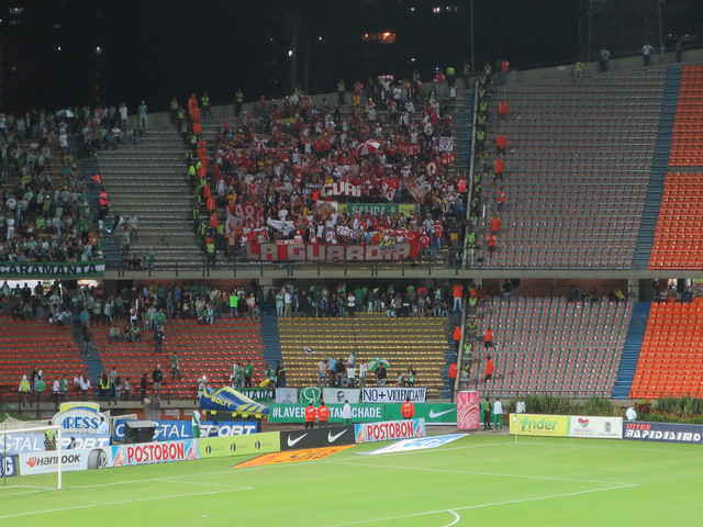 The isolated, and heavily protected pocket of Santafe fans