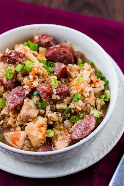 Chicken & Sausage Jambalaya with Cauliflower