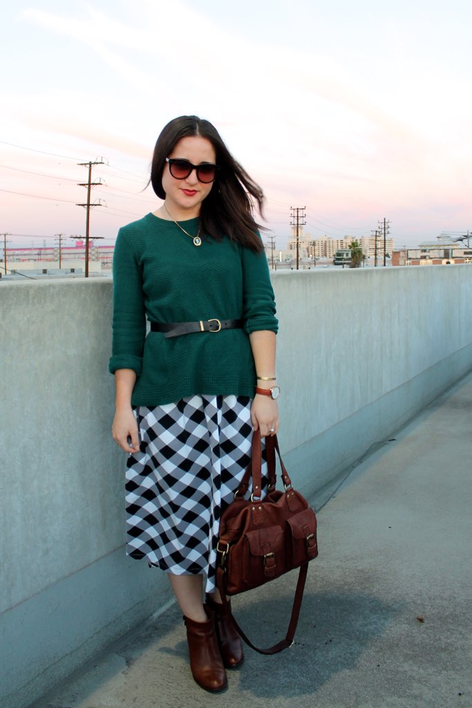spring #oufit: layered sweater and dress