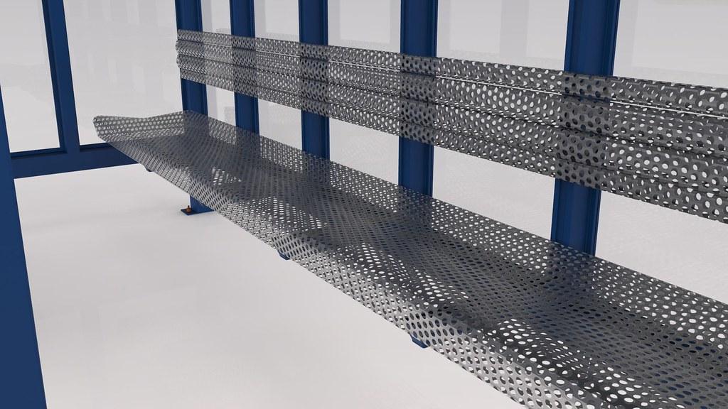 Bus Stop Textured 3d Model
