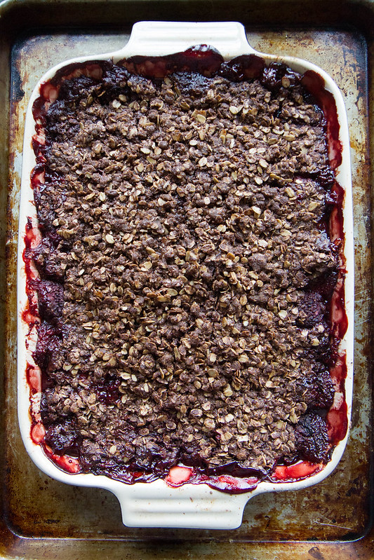 Chocolate Strawberry Crisp