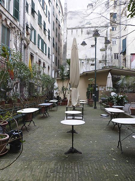 terrasse et parasols