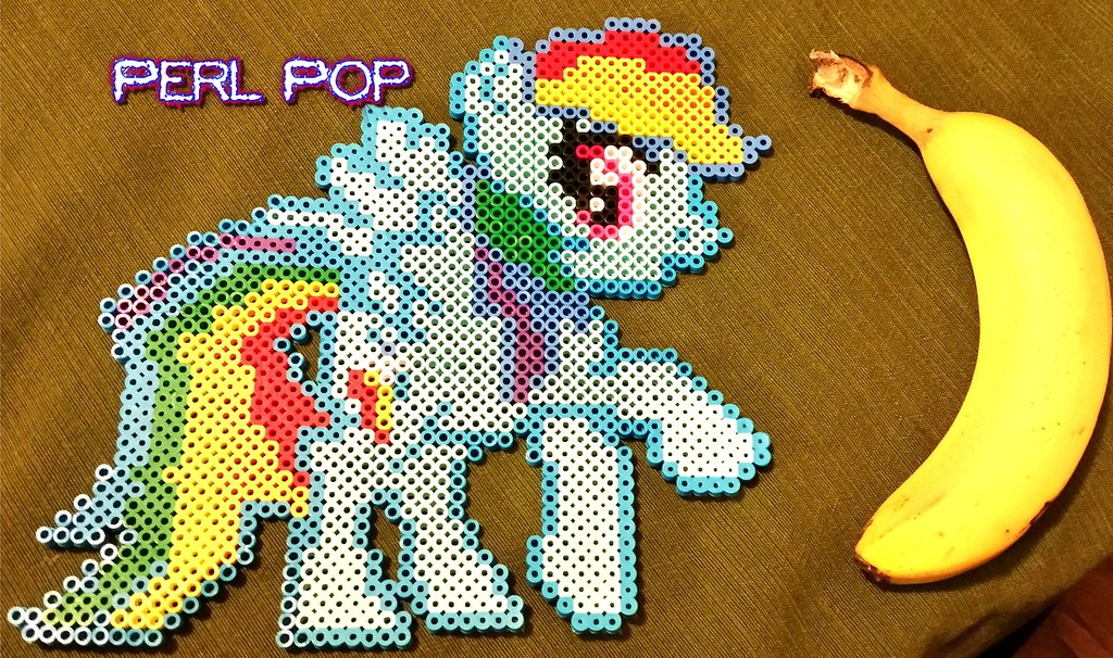 Fluttershy My Little Pony Perler Kungfukao Flickr