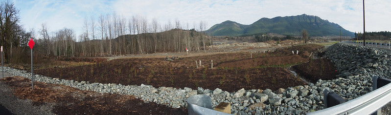 Landslide Park: This is the work being done to build up the Whitehorse Trail near where the landslide occurred.