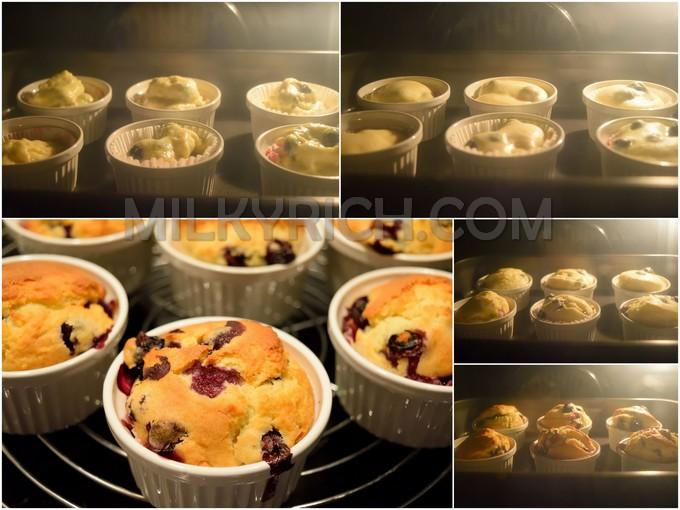 Nướng blueberry muffins - 8