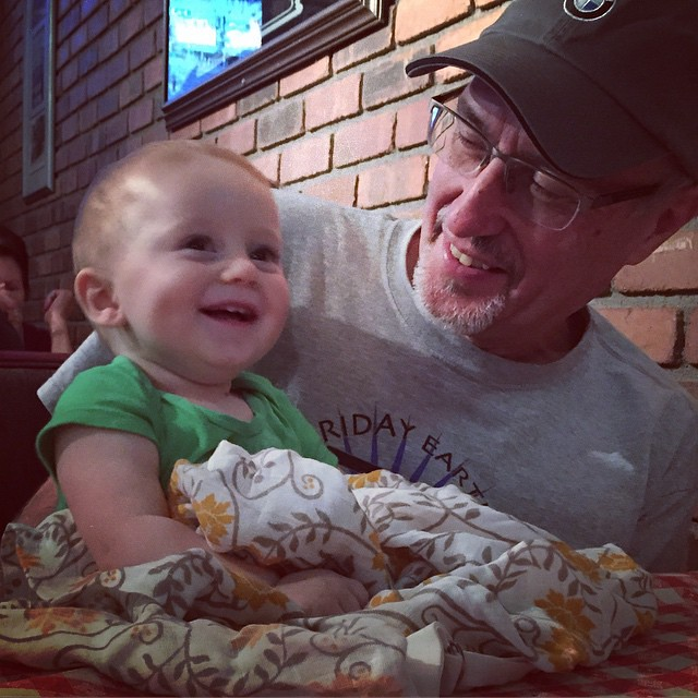 Archer and his grandpa at dinner. by bartlewife