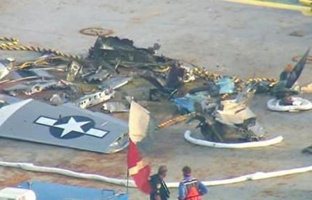 El P-51 accidentado Galveston Gal