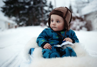 First sled ride.