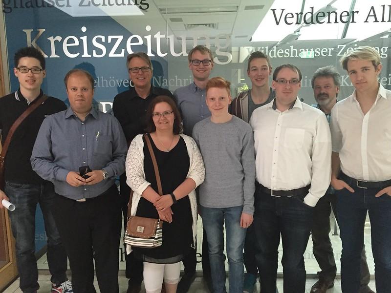 Besuch der Kreiszeitung am 13.05.16